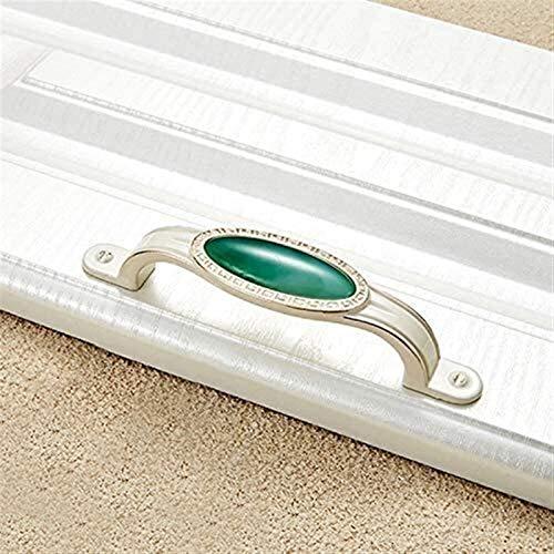 KEEBON Accesorios para Muebles 5 PCS 4008-96 Ivory Blanco Emeralda Jade Gabinete Cajón Aleación de Zinc Aleación de Zinc Mango de Jade Blanco