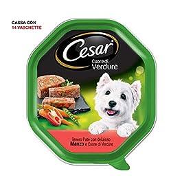 Cesar Heart of Soft Vegetables Food for Dog Paté 150 g – 14 Trays