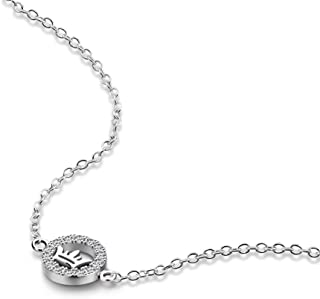 2019 New 925 Sterling Silver Necklace for Women Simple Crown Pendant Design Solid Silver Clavicle Chain Size 40+4cm Silver Jewelry Anniversary Gift