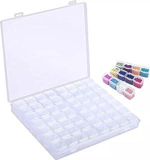 JDBOS ® Diamond painting opbergdoos - sorteerdoos met 56 vakjes - kralendoos - inc. opbergtas en stickervel