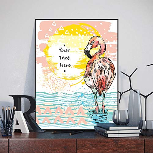 Sanzangtang Moderne warme winter dier flamingo poster afbeelding canvas schilderij Nordic kinderkamer print afbeelding decoratie zonder lijst