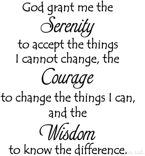 San Francisco Mall Serenity Prayer Quote Vinyl Wall Wo online shopping Art Sticker Decal Removable