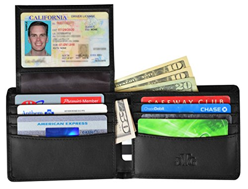 RFID Blocking Leather Wallet for Men - RFID Passport Sleeve and Gift Box incl.