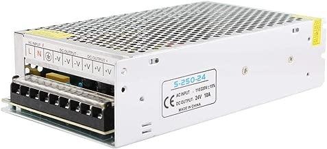 YETAIDA DC 24V 10A Power Supply,Universal Regulated AC 110-220V 50-60hz to DC24V Power Supply for CCTV Camera,LED Strip Light (24V 10A,240W)