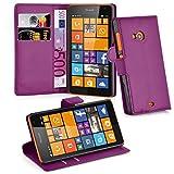 Cadorabo Hülle für Nokia Lumia 535 in Mangan VIOLETT -