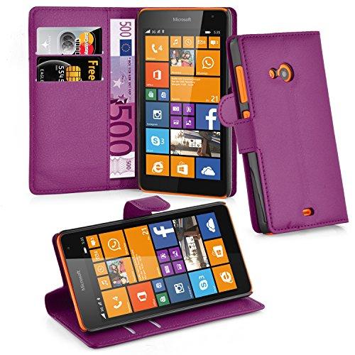 Cadorabo Custodia Libro per Nokia Lumia 535 in Violetta Ametista - con Vani di Carte, Funzione Stand e Chiusura Magnetica - Portafoglio Cover Case Wallet Book Etui Protezione