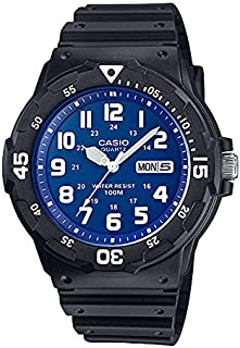 Casio Men Black Dial Resin Band Watch MRW200H-2B2