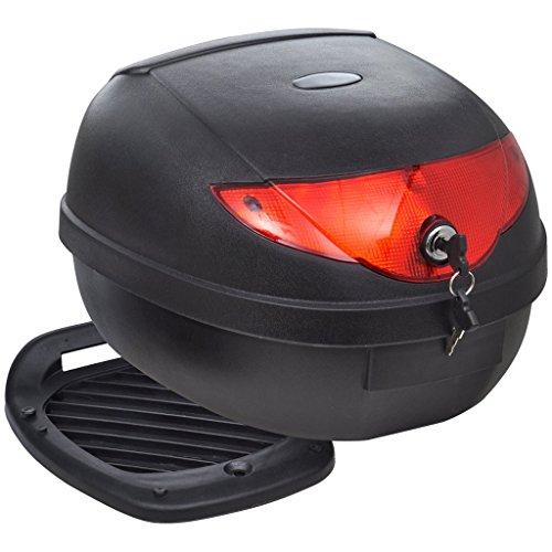 Festnight Maleta para Motos con Capacidad para un Casco 36 L - Color de Negro Material de Polipropileno, 40x38,5x25 cm