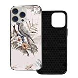 Compatibile con iPhone 12 Pro Max Caso, Full Body Rugged Caso, Morbido TPU Glass Case per iPhone 12 Pro Max 7.7 pollici, Macaw Tropical Mockup Illustrazione