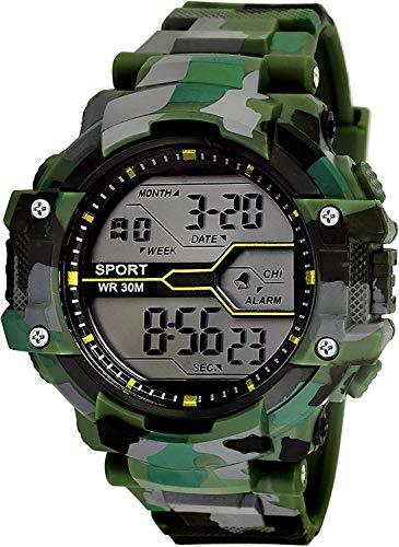 SWADESI STUFF Digital Boys' Watch (Multicolored Dial Green Colored Strap)