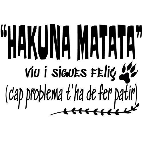 "Docliick® Vinilo de pared decorativo en Catalán""HAKUNA MATATA, VIU ."" Pegatinas de pared decorativa de frases celebres.Vinilo decorativo decoración hogar Docliick DC-051-CAT"