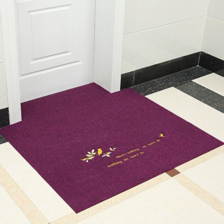 precio mas barato TS-nslixuan Mat Hogar Mat alfombra alfombra alfombra se puede cortar 120x120cm Ave púrpura  en stock