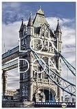 Panorama Póster Ciudad de Londres 50 x 70 cm - Impreso en Papel 250g - Póster Pared - Cuadros Decoración Salón - Cuadros Dormitorio - Póster Decorativos - Cuadros Modernos
