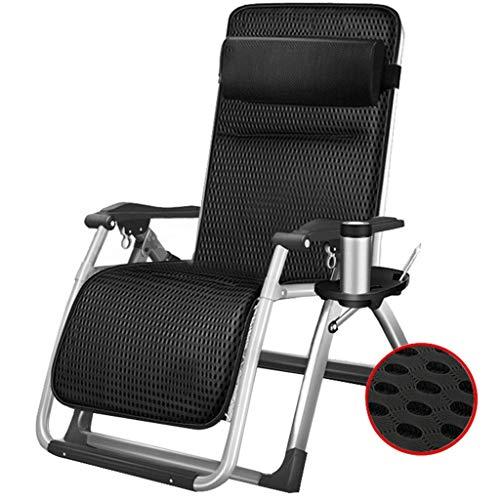 WJJJ Lehnstuhl Klappstuhl Gartenstuhl Stuhl Mittagspause Stuhl Lazy Chair Sessel Verstellbarer Multifunktionsstuhl in der Sonne (Farbe: Stuhl + Kissen 2)