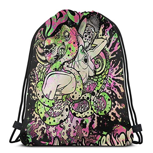 Elegante mochila escolar universitaria, mochila para mujeres, niñas, negocios, viajes, alicia en cadenas, bolsa de gimnasio
