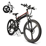 Coolautoparts Folding Electric Bikes for Adults 350W/500W Aluminum Mountain e-Bike for Men Women 26 Inch Removable 48V 10Ah Lithium Battery 21 Speeds Disc Brake LCD Screen【EU STOCK】