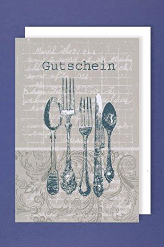 Geburtstag Gutschein Karte Grußkarte Einladung Essen Dinner 16x11cm