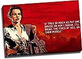 Red Dead Redemption 2 lienzos impresos para pared de 91,4 x 60,9 cm, póster enmarcado para videojuegos, decoración de pared de Abigail Marston, decoración de pared para sala de estar, dormitorio, arte estirado y listo para colgar