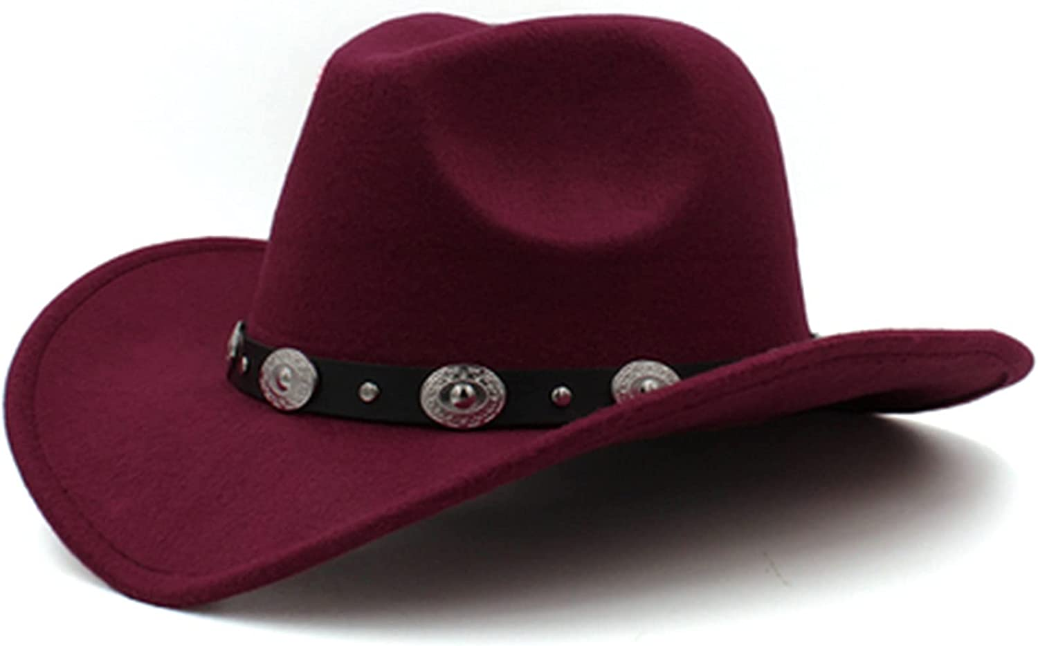 QQSA Men's Western Cowboy Hat Rolled Cowgirl Outlet sale feature Edge Women's Popular standard