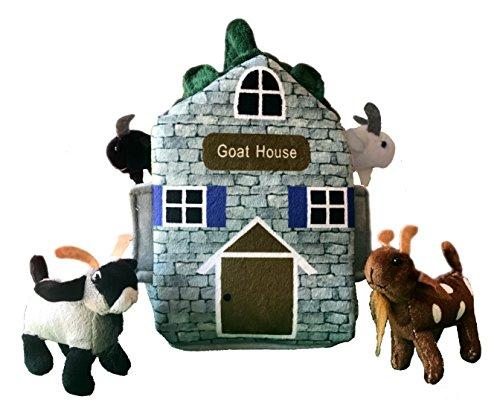 Adore 12' Goat Farm House Stuffed Animal Plush Playset