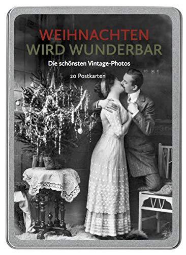 Weihnachten wird wunderbar: Die schönsten Vintage-Photos, 20 Postkarten gedruckt auf Apfelpapier in einer hochwertigen Dose.