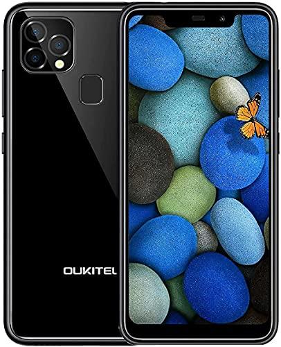 Moviles Baratos y Buenos, 4GB+128GB, OUKITEL C22,Smartphone 4G Android 10 Doble SIM,Pantalla HD de 5.86,Cámara Trasera Triple de 13MP,Batería 4000 mAh,Moviles,OTG-Negro