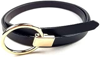 MYCHOMEUU Spring New Fashion Decorative Thin Belt Ladies Dress Belt Leather Suede Cowhide (Color : Dark Coffee, Size : 110cm)