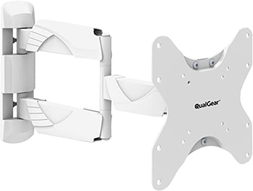 QualGear Qg-TM-005-WHT 23-Inch to 42-Inch Premium Quality Contemporary Style Ultra Low Profile Full Motion Wall Mount...