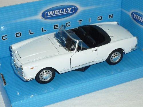 Welly Alfa Romeo Spider 1960 2600 Weiss Offen Cabrio 1961-1969 1/24 Modell Auto