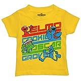 Sesame Street Baby Boys Toddler Elmo Cookie Monster Oscar Grover Cute T-Shirt, Gold, 12 Months