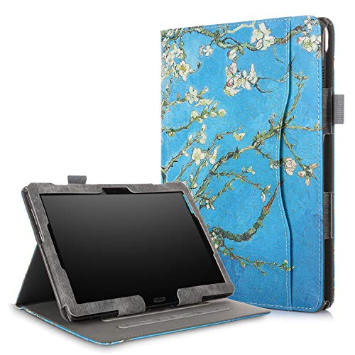Xuanbeier Multifunktional hülle Kompatibel mit Lenovo M10(TB-X505F TB-X505L TB-X605F TB-X605L) / P10(TB-X705F) 10.1 Zoll Tablette mit Multi-Winkel & Handhalter, Blume