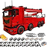 PEXL Technic Tow Truck MK II - Juego de construcción de 2.4 G RC Technic 8 x 8, bloques 10180 y 19 motores de construcción, juego MOC compatible con LEGO Technic