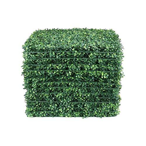 HUSHUI Azulejos de césped Artificial, 40x60 cm, Paneles de césped de Planta de césped Artificial, Valla de Pared, decoración de Fondo de jardín para el hogar