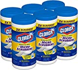 Clorox Disinfecting Wipes with Micro-Scrubbers, Crisp Lemon, 70 Count, Pack of 6 (Package may vary) (Package May Vary)