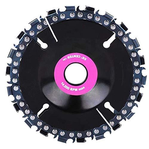 Amoladora Disco de tallado de madera Motosierra Rueda de molienda Hoja de cadena Forma de placa circular con 22 dientes finos 4 '3 piezas