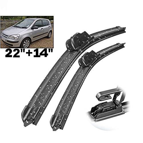 HZHAOWEI Ruitenwisser Front Wisserbladen, Voor Hyundai Getz 2002-2009 Voorruit Voorruit U-type Arm SLECHTS 22