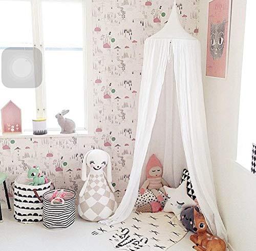 Ciels de lit Lit pour enfants Couvertures Princess Play Tent La chambre des enfants décorer la chambre des enfants dôme lit bébé jouer tente maison @ white_220 * 50cm