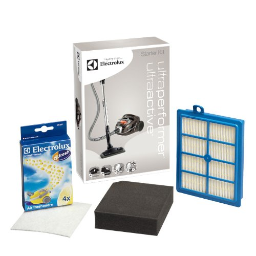 Electrolux USK6 Performance Kit für UltraPerformer & UltraActive (1 Allergy Plus Filter, 1 Feinstaubfilter (waschbar), 1 Motorfilter, 4er Pack s-fresh Lemon Duftgranulat, top Saugleistung, blau/grau)