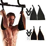 Jannyshop AB Straps Arms Hanging Pull Up Belt Crunch Sling Abdominal Slings Workout Adjustable for Home Gym...