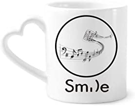 cold master DIY lab Song Music Score Melodious Classical Smile Pattern Mug Cup Pottery Heart Handle