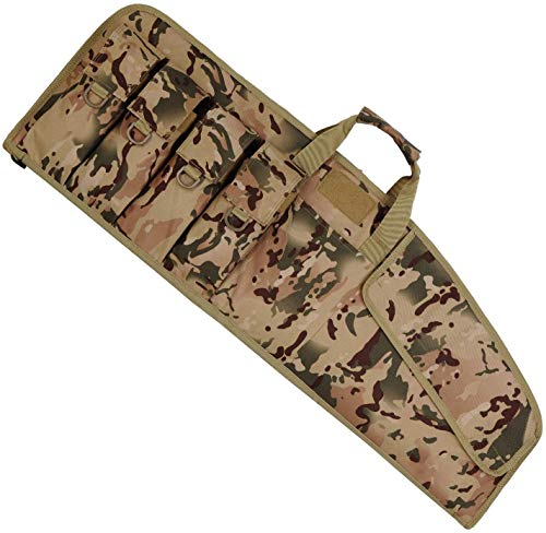 AUMTISC Rifle Case Soft Shotgun Case for Tactical Ar15 Scoped Rifles with External Magazine Pockets Foam Padding Lockable Zipper Adjustable Shoulder Camouflage 36""