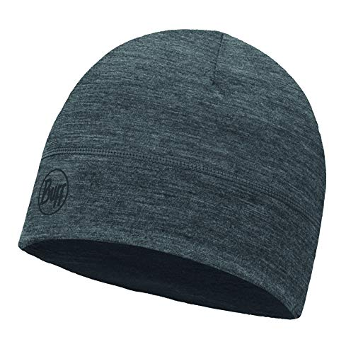 Buff Lightweight Merino Wool Hat Mütze, Solid Grey, one Size