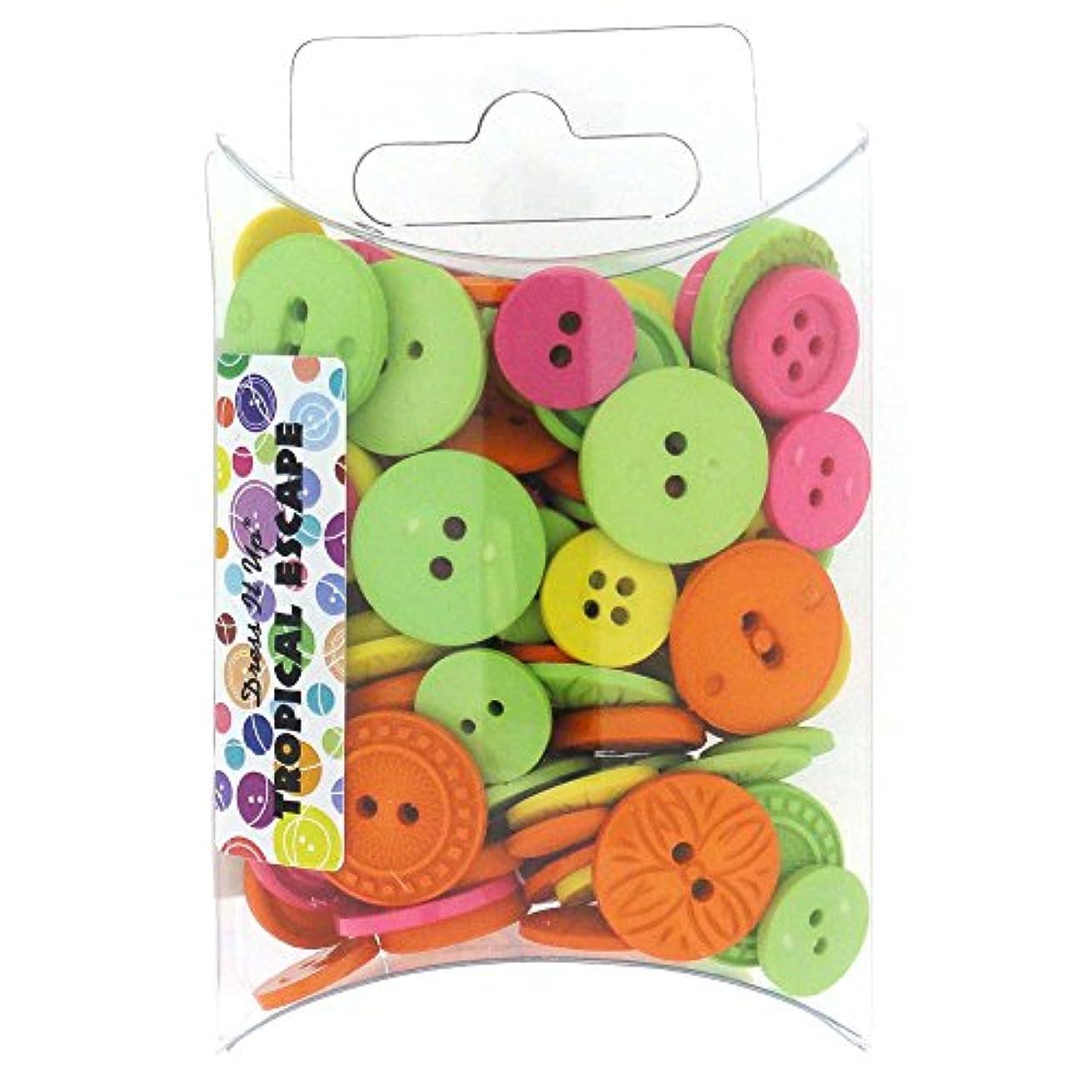 Dress It Up Jesse James (1-Pack) Buttons Color Me Pillow Pack #7397 Tropical Escape 7397-1P'