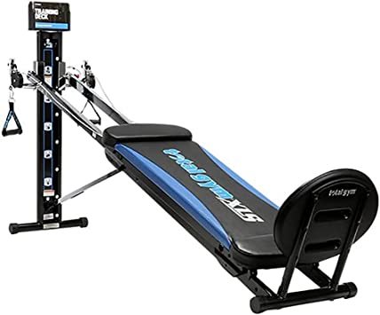 Total Gym XLS Men/Women Universal Total Body Training Foldable Home Gym Workout Machine with Squat Stand, Leg Pull, 2 Ankle Cuffs, and Exercise Chart