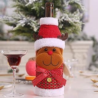 WERNG Decoraciones navideñas para el hogar Santa Claus Botella de Vino Bolsa Bolsa Muñeco de Nieve Stocking Titulares de Regalo Navidad Navidad 2018 Decoración Año Nuevo 11