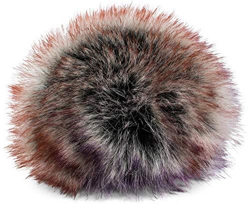 styleBREAKER Kunstfell Bommel für Mützen und Beanies, Fake Fur, Winter Fellbommel 04024161, Farbe:Violett-Orange