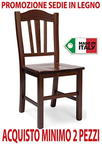 Ordine min. 2 pz sedia poltrona Silvana in legno