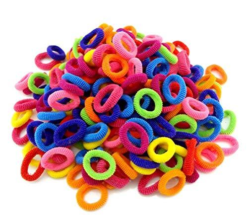 cuhair 100 Pièces Liens de Cheveux Élastiques Mini Chouchous Bandes de Caoutchouc Minuscules Coloré Filles Porte-Queue de Cheval pour Bébé Enfants (2#)