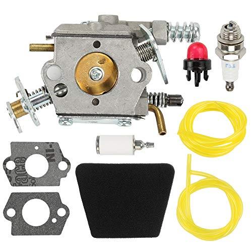 Fuel Li 545081885 Carburetor Kit for Poulan 1900 1950 1950LE 1975 1975LE 2025 2050 2055 2050LE 2050WT 2055LE 2075 2075C 2075OC 2150 2150LE Craftsman Chainsaw Replace 530071619 530071620 530071821