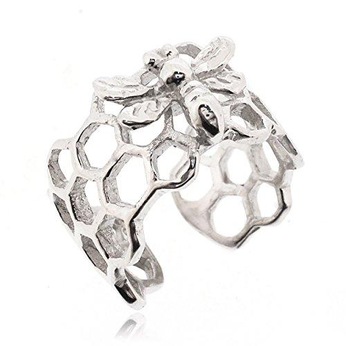 Sovats Ear Cuff Bee Oorbellen voor vrouwen 925 sterling zilver gerhodineerd - Eenvoudige, stijlvolle oorbellen en trendy nikkelvrije oorbel